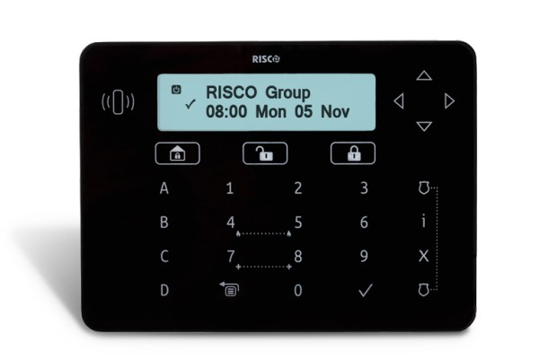 RPKELPB0000A - Risco Black Elegant keypad with proximity