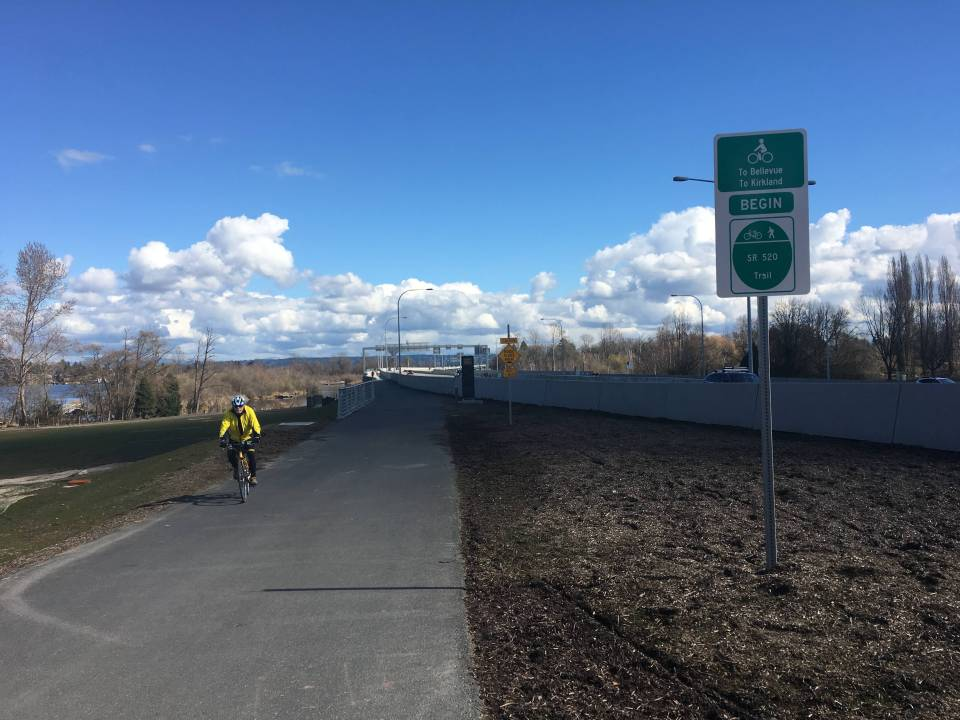 The new 520 trail provides commuters and recreational users with a great new option to get across Lake Washington.