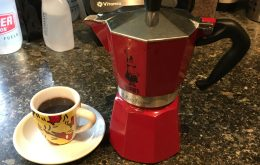 That is a lonely cup of stovetop espresso. Next time add a friend or two and enjoy!
