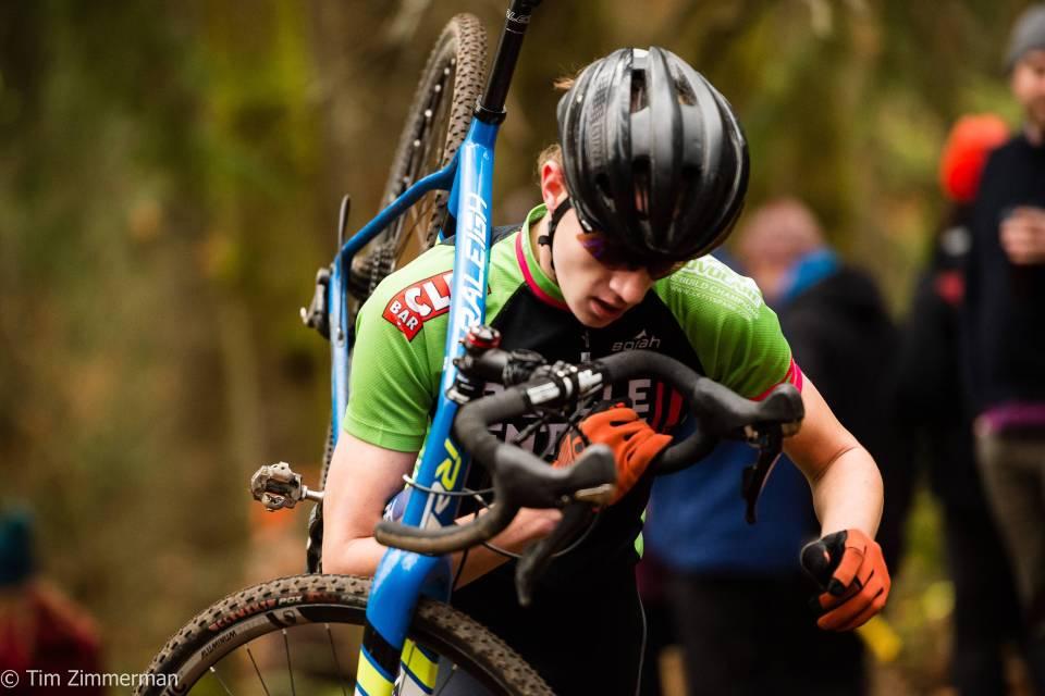Sam racing cyclocross. Credit: Tim Zimmerman