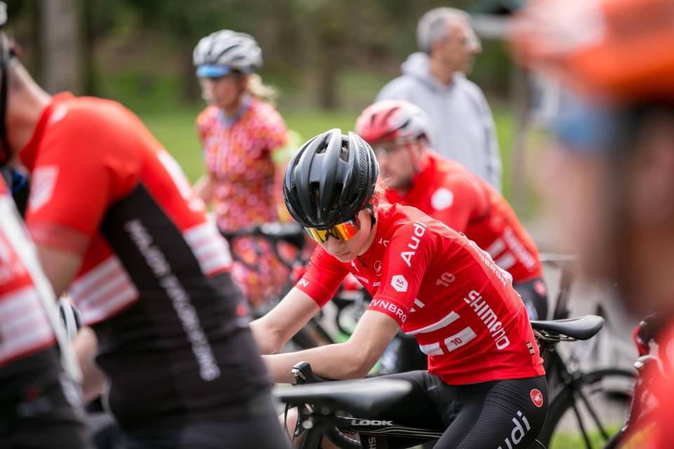 Sam wearing his Audi kit and some pre-race game face. Credit: Yee Feng