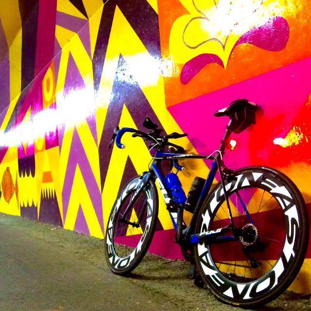 Sergey's bike in the Burke Gilman tunnel in Bothell.