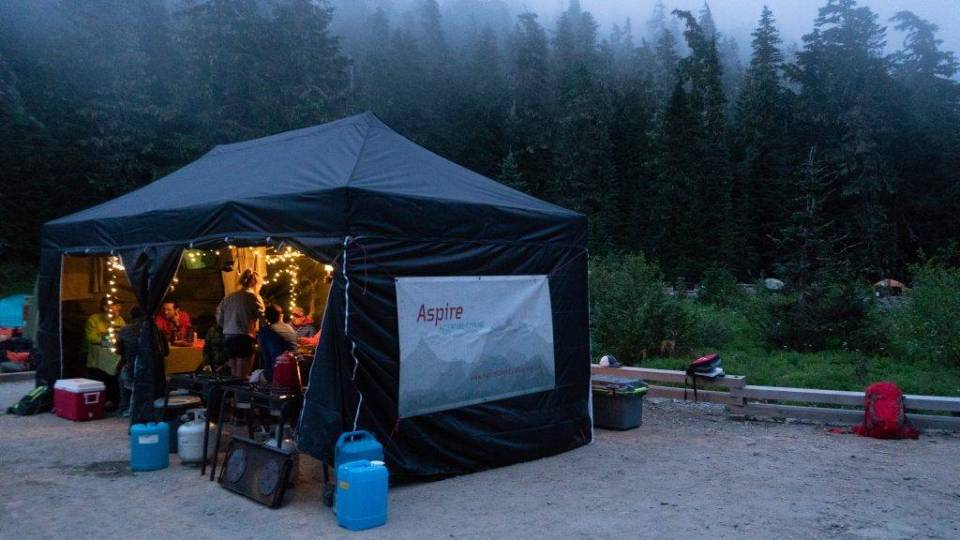 Mowich Lake Campground is the first overnight stop on a 3-day run on the Wonderland Trail.