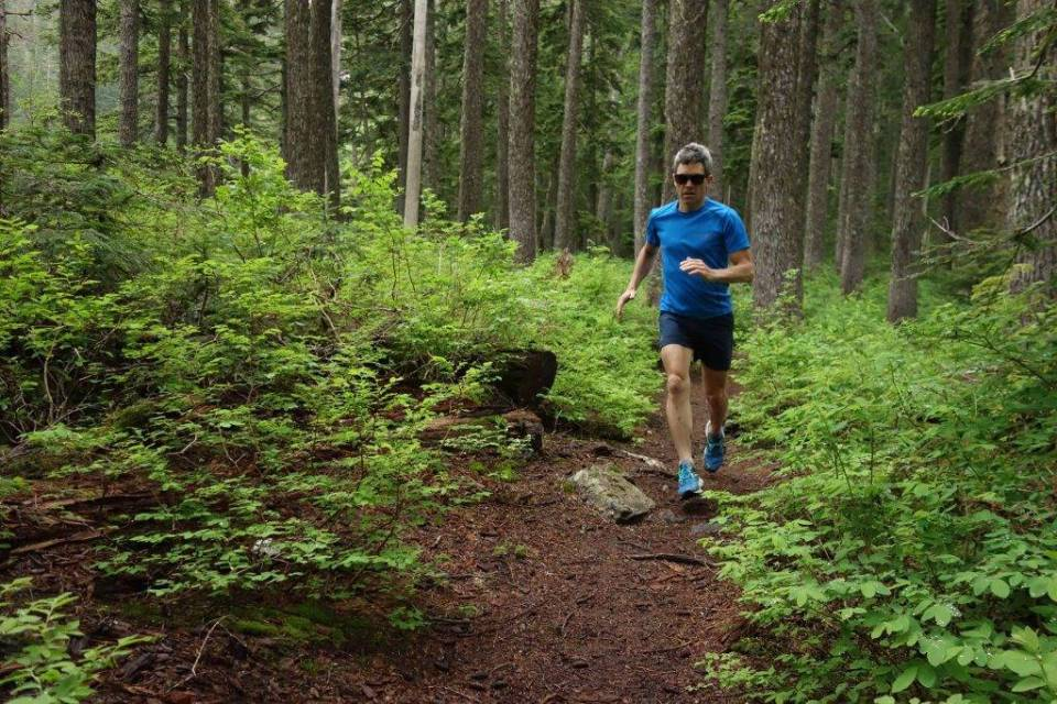 """The Roka Vendées during a """"Juneuary"""" run in the Cascade foothills west of Snoqualmie Pass."""