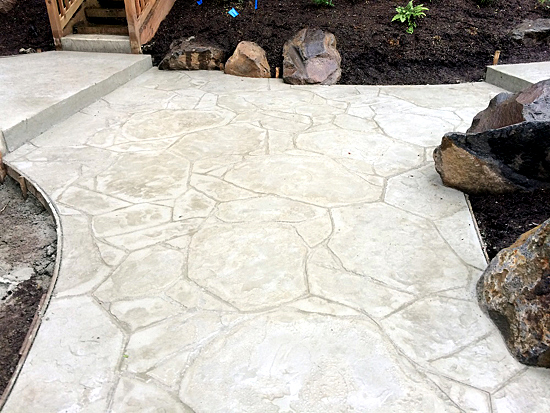 Decorative concrete after stamping process