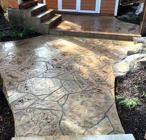 Decorative concrete after staining