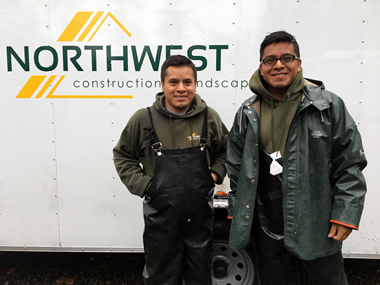 Brothers in front of NWCL trailer