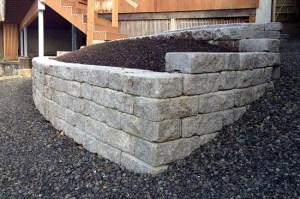 roman stack stone retaining wall