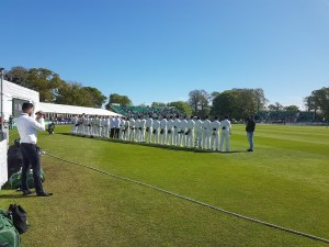 ireland & Pakistan line up for the first test
