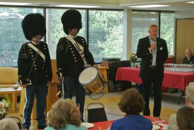 The Two Danish Royal Guards Performing at the Seattle Danish Center in Celebration of Queen Margrethe II of Denmark