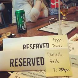 The Dane reserved our table for Fredagscafe hygge the Danish way (May 2018)