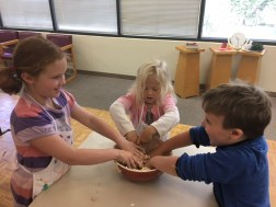 Campers enjoying baking at the Seattle Danish Center