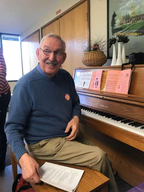 Bob Jensen, our pianist for the day!