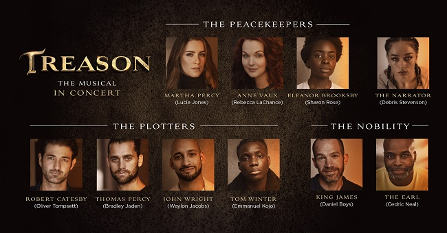 Casting confirmed for the highly anticipated online concert streaming of Treason