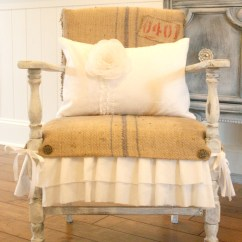 Burlap Dining Chair Covers Extra Large Great Ideas Ruffles