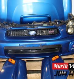 2002 2003 jdm subaru impreza sti bugeye front end conversion nose cut sedan v7 [ 5184 x 3456 Pixel ]