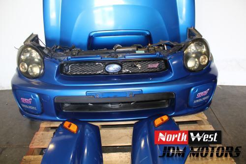 small resolution of 2002 2003 jdm subaru impreza sti bugeye front end conversion nose cut sedan v7