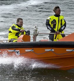 Illustrates Master's boat handling skills