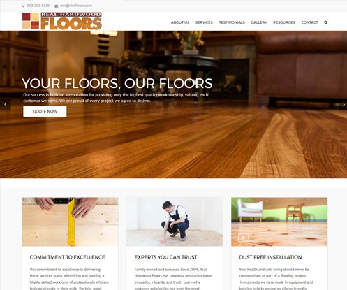 We launched a website for a local flooring company  Web