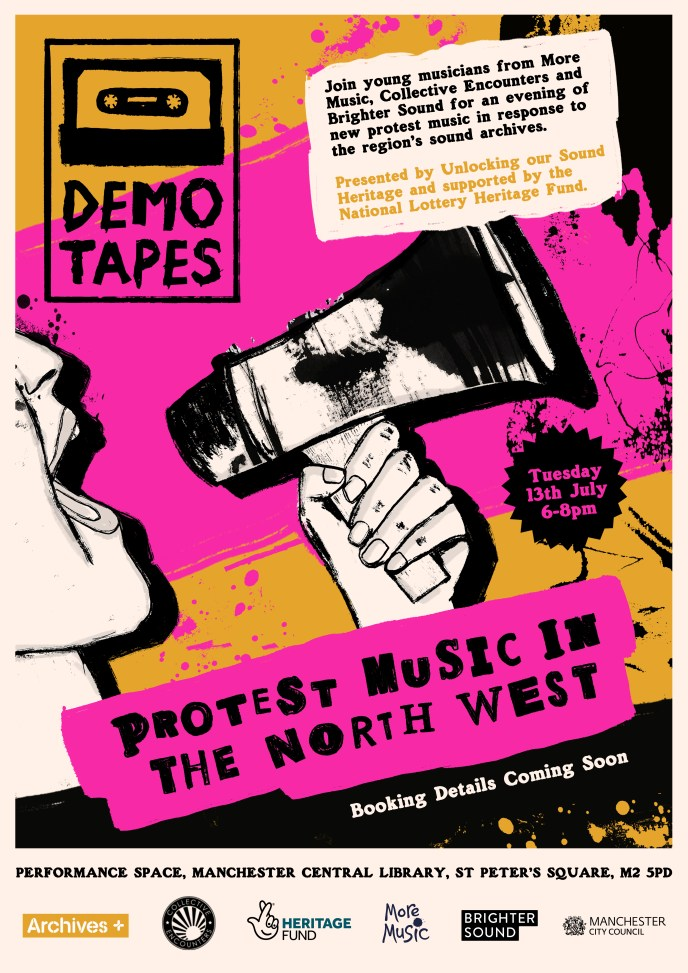 Demo Tapes poster for 13 July gig