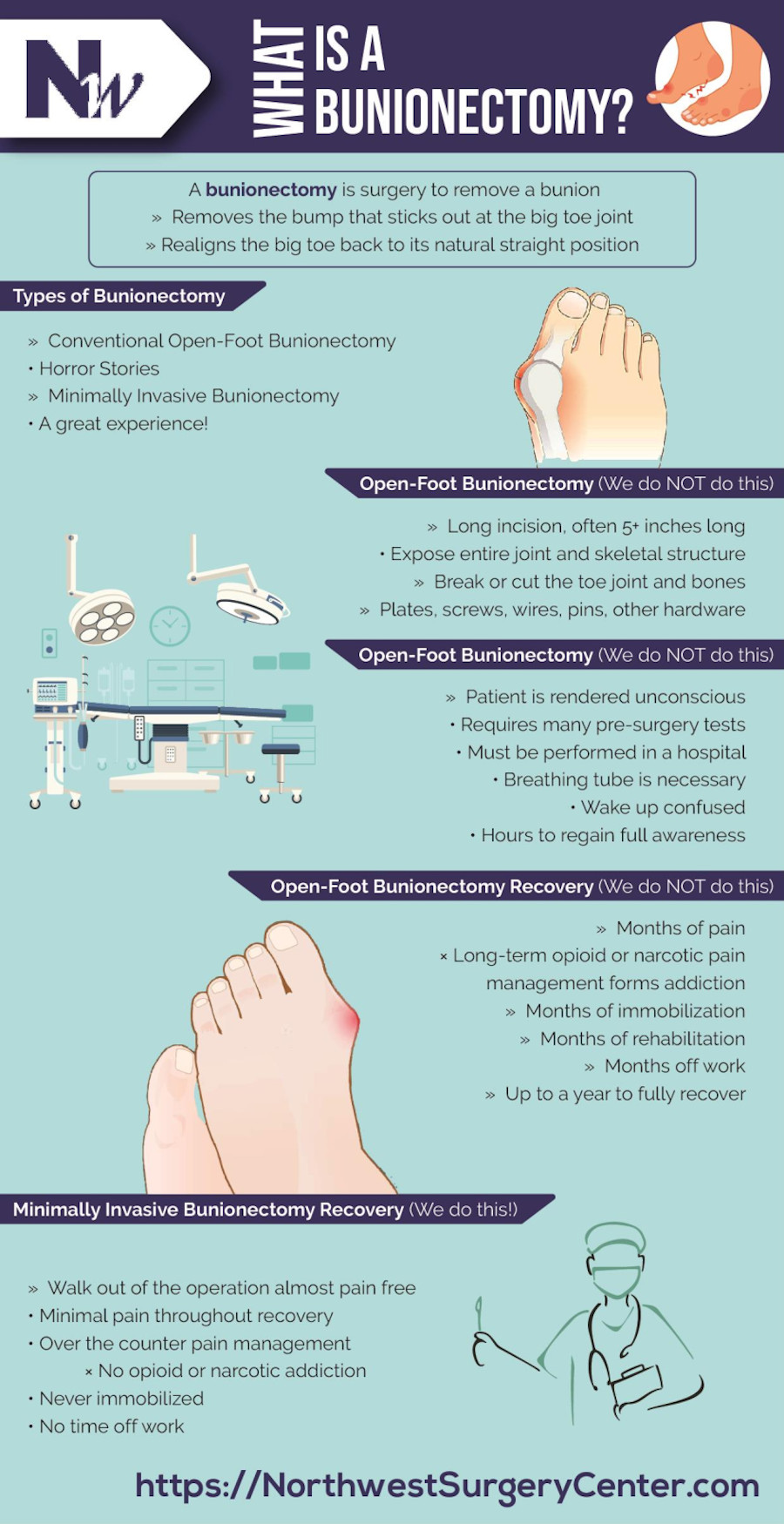 What is a Bunionectomy Infographic