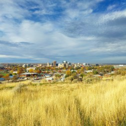 Boise Skyline from Military Reserve Park