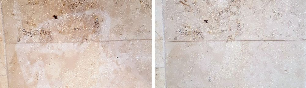 bleach damaged jura limestone tiles
