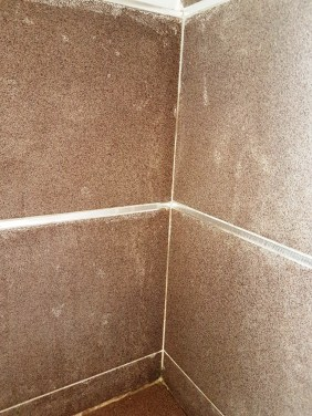 Textured Porcelain Tiles with Grout Haze Leeds