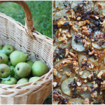 SRustic Pear Tart with local honey, blue cheese, walnuts and a whole wheat or spelt puff pastry (Pæreterte)