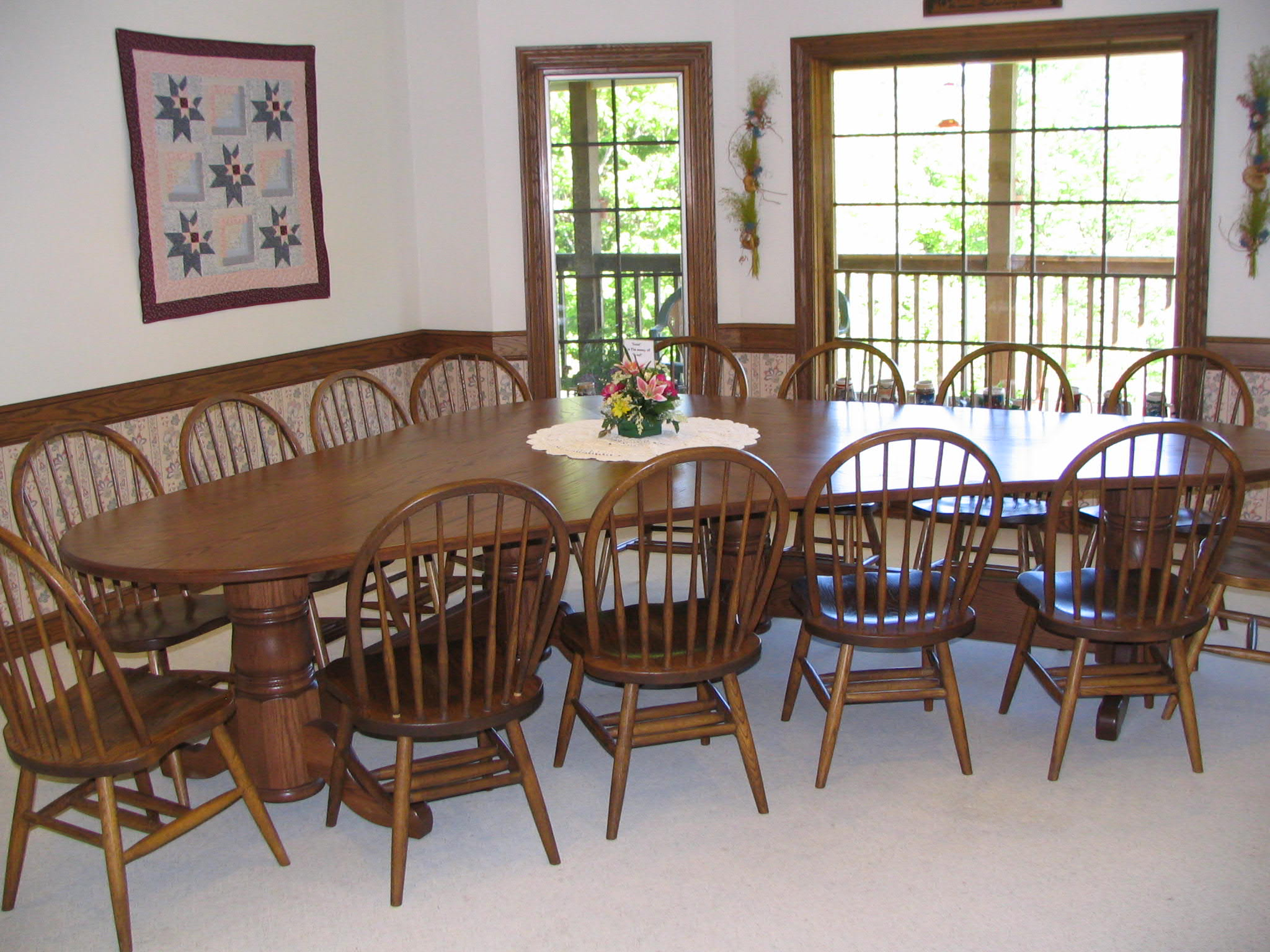 unusual dining chair ergonomic kenya unique room table w chairs northwood auctions