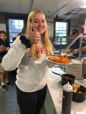 Junior Amelia Brady loves nuggets. (Photo: Miranda Bookman '20).