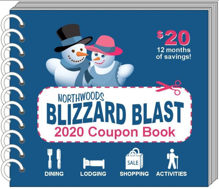Northwoods Blizzard Blast Coupon book