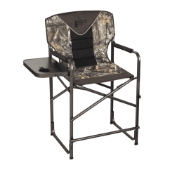 Tall Directors Chair With Side Table Alite Monarch Butterfly Kings River High View Director 39s Realtree Edge Camo