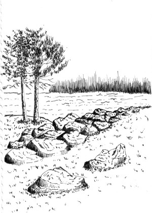 pen ink simple landscapes draw learn