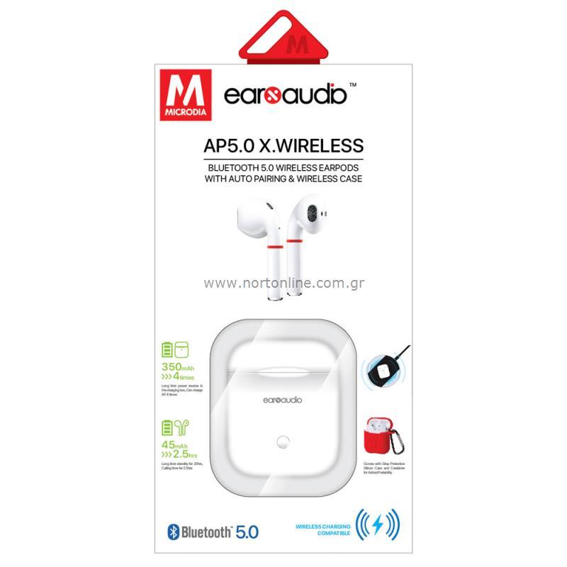 Στερεοφωνικό Ακουστικό Bluetooth Earbuds Microdia