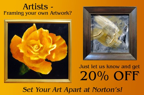 20% Framing for Artists Framing their own art.