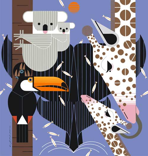 Charley Harper - Zoo Babies