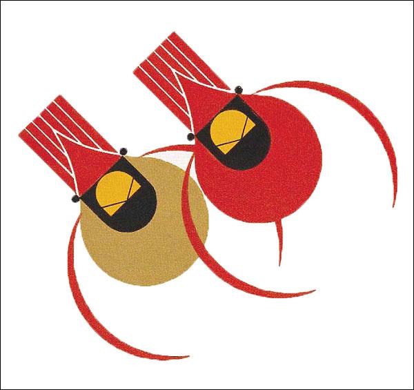 Charley Harper - Cardinal Couple