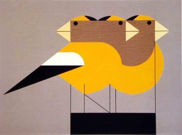 Charley Harper - Gregarious Grosbeaks