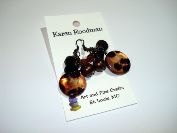 bead and marble earring set by Karen Roodman