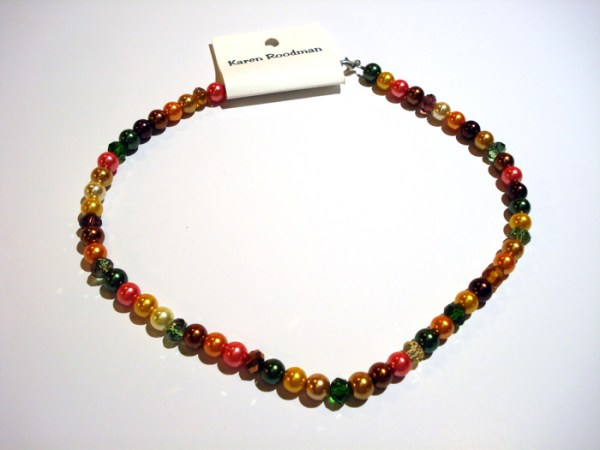 multi-colored bead necklace by Karen Roodman