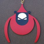 Charley Harper Brass Ornament - Flying Cardinal