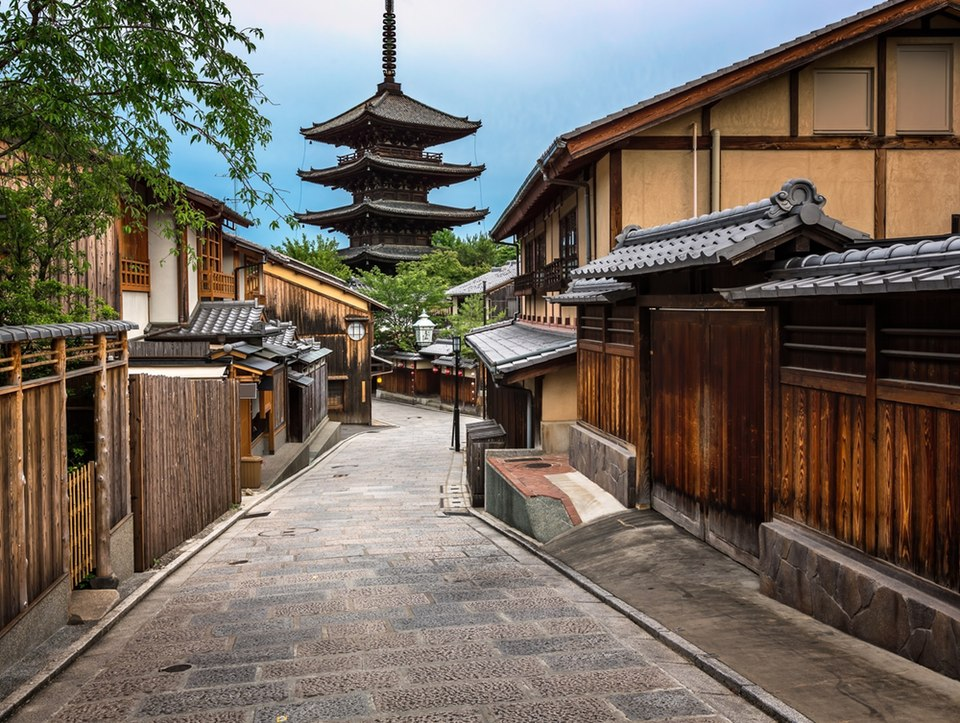 BACKSTREETS OF KYOTO JAPAN