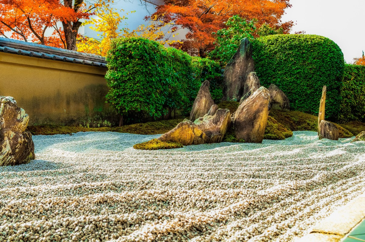 A wonderful example of a dry rock landscape garden in Kyoto