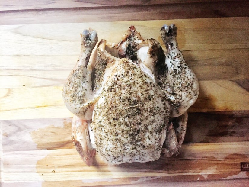 slow roasted whole chicken