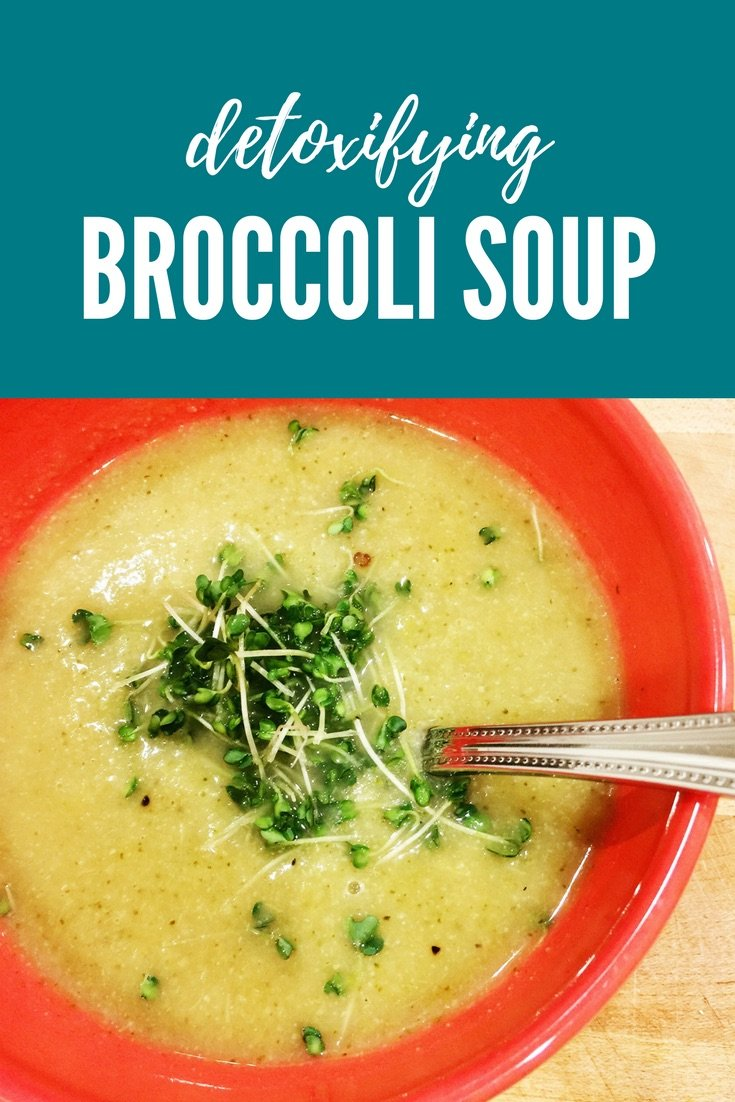 Detoxifying Broccoli Soup - norulesnourishment.com - A blended broccoli soup that can help cleanse and detoxify your system.