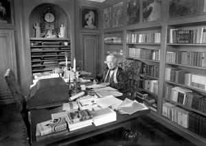 Selma Lagerlöf in her workroom at home in the residence Mårbacka.
