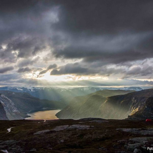 Sunset at Trolltunga