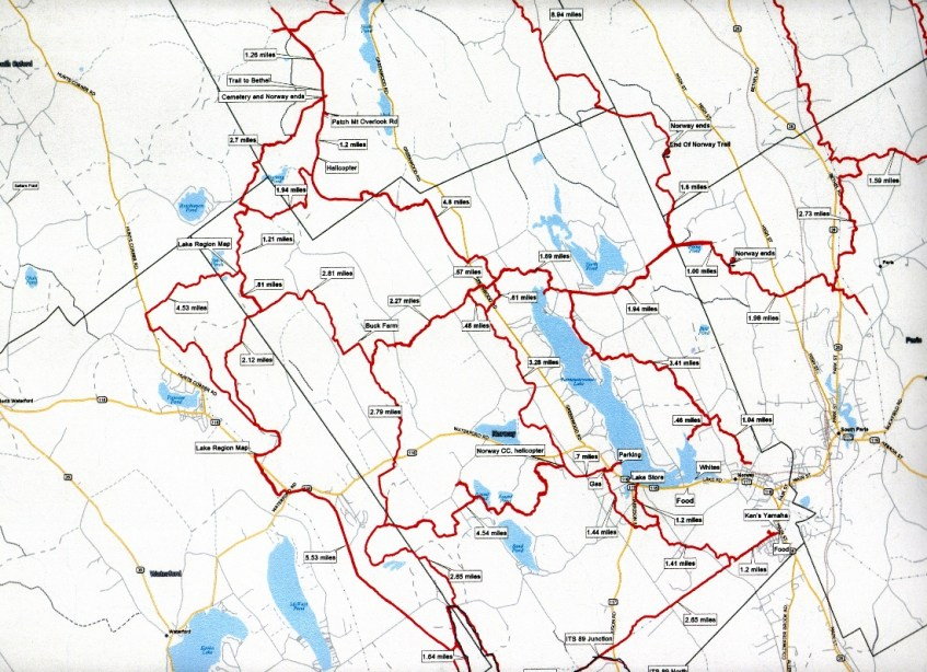 South Paris Maine Map.Norway Trackers Snowmobile Trail Map Norway Maine