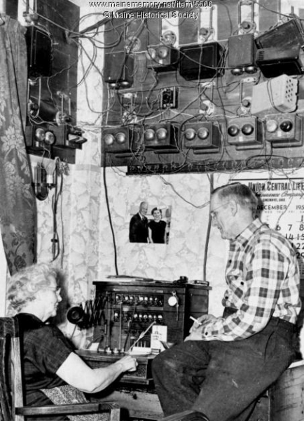 Norway Telephone operator circa 1950